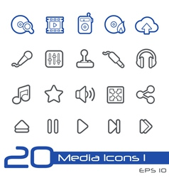 Media Entertainment Outline Series vector image vector image