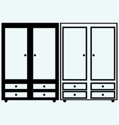 Closed cupboard vector image vector image