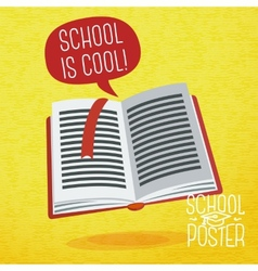 Cute school college university poster - study book vector image