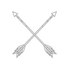 figure cute arrows element with ornamental design vector image