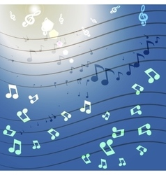 music glow vector image