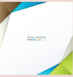 template design brown white blue green vector image vector image