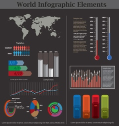 world infographic elements vector image vector image