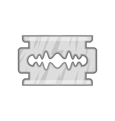 Blade razor icon black monochrome style vector image