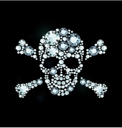 Diamond Skull And Crossbones vector image