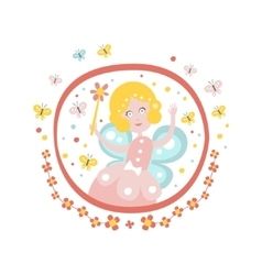 Fairy Godmother Tale Character Girly Sticker In vector image