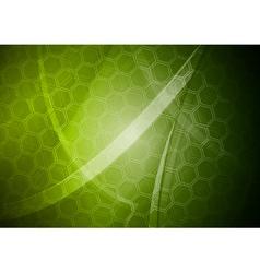 Green tech design vector image vector image