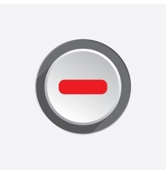 Minus sign icon Negative symbol Zoom out Red vector image