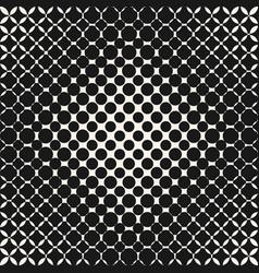 monochrome geometric halftone circles pattern vector image vector image