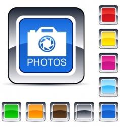 photos square button vector image vector image