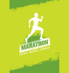 running event active sport sign vector image