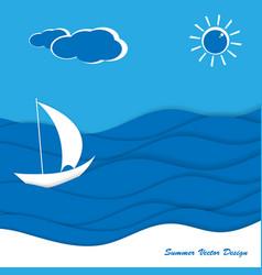 seaside flat design vector image