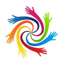 Swirly hands vector image vector image