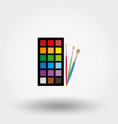 brushes and paints vector image
