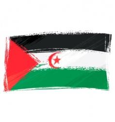 grunge Western Sahara flag vector image vector image