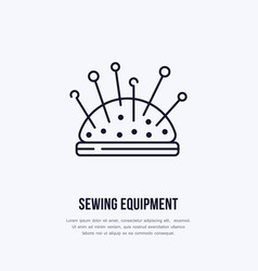 pincushion flat line icon sign for sewing vector image