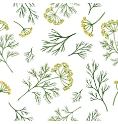 Watercolor seamless pattern hand drawn herb dill vector image vector image