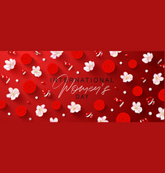 8 march happy women s day banner beautiful yellow vector image