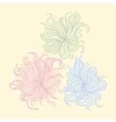 Abstract imaginary flowers vector image