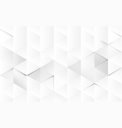 abstract white geometric 3d interior background vector image