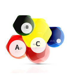 aqua glossy glass elements vector image