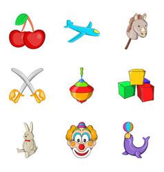 Bairn icons set cartoon style vector