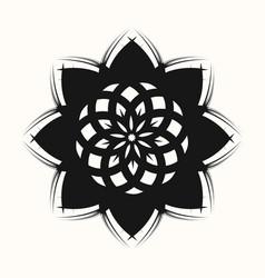 black flower 0001 vector image
