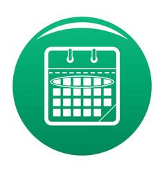 calendar day icon green vector image