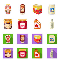 Can and food icon vector
