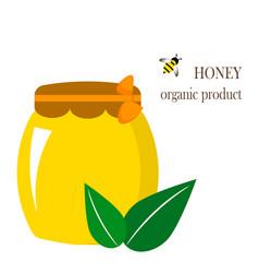 Can honey logo honey in vector