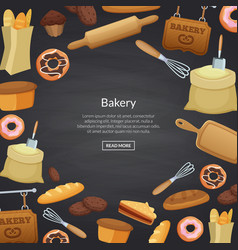 Cartoon bakery background vector