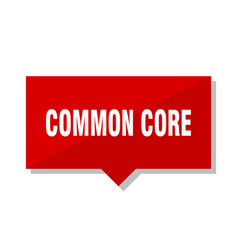 Common core red tag vector