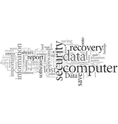 data recovery vector image
