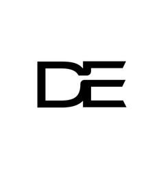 de letter logo design vector image