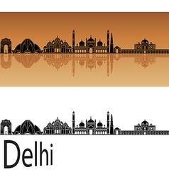 Delhi skyline in orange vector