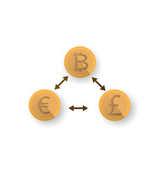 Digital money bitcoin bit coin vector