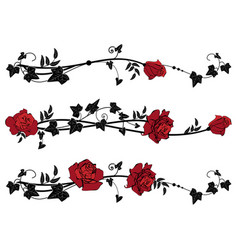 dividers with roses and ivy vector image