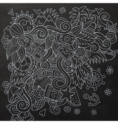 Doodles abstract decorative summer vector image