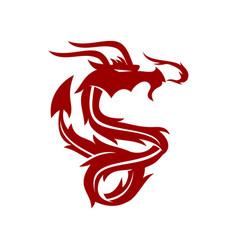 dragon power logo design mascot template isolated vector image