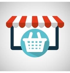 E-commerce virtual shop cart icon vector