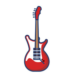 electric guitar instrument isolated icon vector image