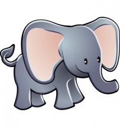 elephant cartoon character vector image