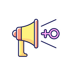 Feminist advocacy rgb color icon vector