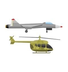 Fighter airplane vector image