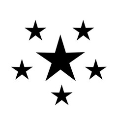 five stars icon on white background five stars vector image