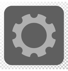Gear Rounded Square Button vector