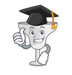 Graduation margarita glass character cartoon vector