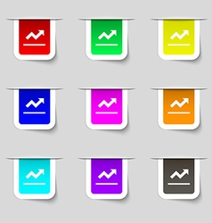 Graph chart Diagram icon sign Set of multicolored vector