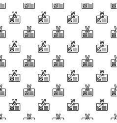 id badge pattern seamless vector image
