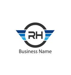 Initial letter rh logo template design vector